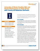 Doubles Performance of SQL and Oracle with V-locity I/O Reduction Software